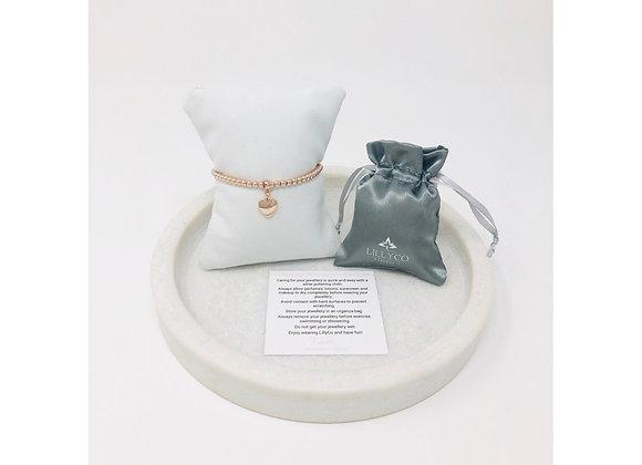 Lilly Co - Fine Rose Gold Small Heart Bracelet
