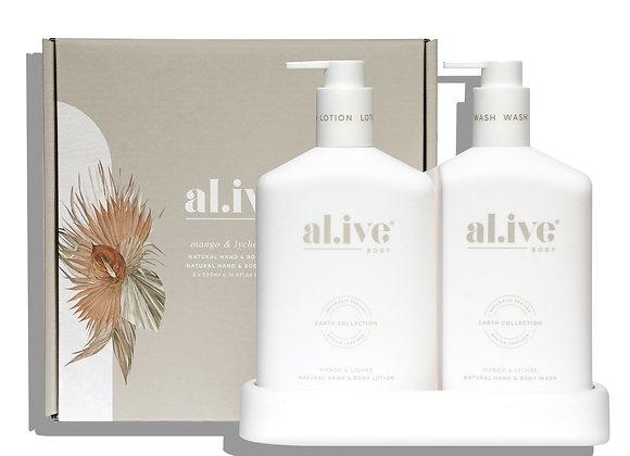 al.ive - Wash & Lotion Duo & Tray Mango & Lychee