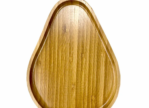 Pear Bamboo Serving Tray - Natural