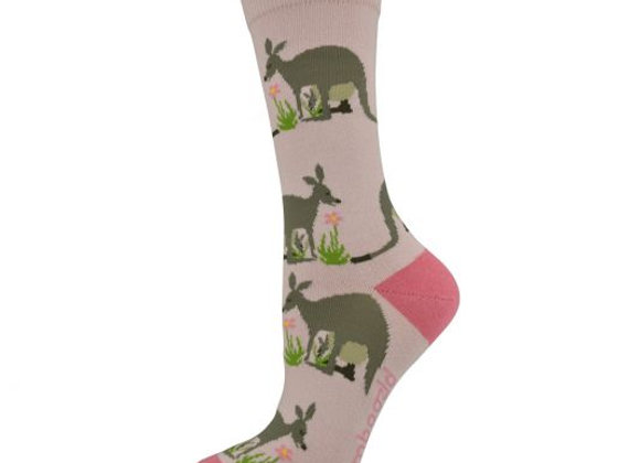 Bamboozld Ladies Sock -Kangaroo & Joey