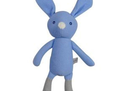 Knitted Dangly Bunny - Blue