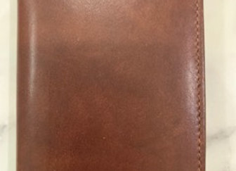Mens Leather Card Holder - Brown