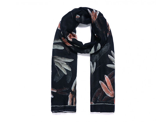 Lilly Co - Black Dragonfly Scarf