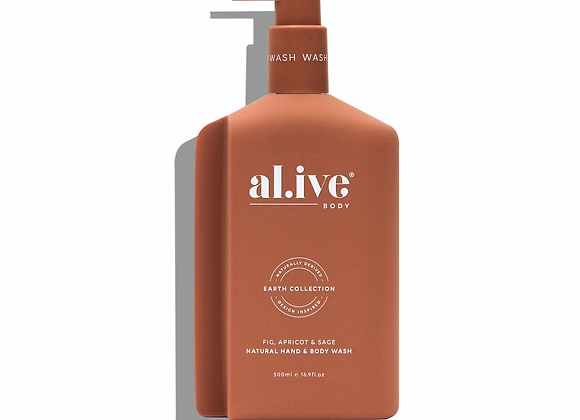 al.ive - Hand & Body Wash -Fig, Apricot & Sage