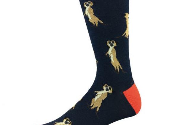 Bamboozld Men's Sock -Meerkat