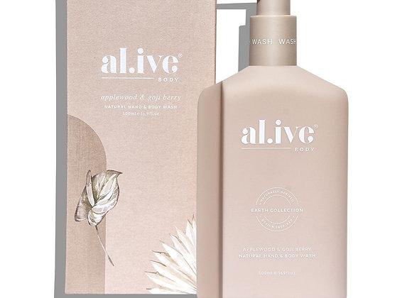 al.ive - Hand & Body Wash - Applewood & Goji Berry