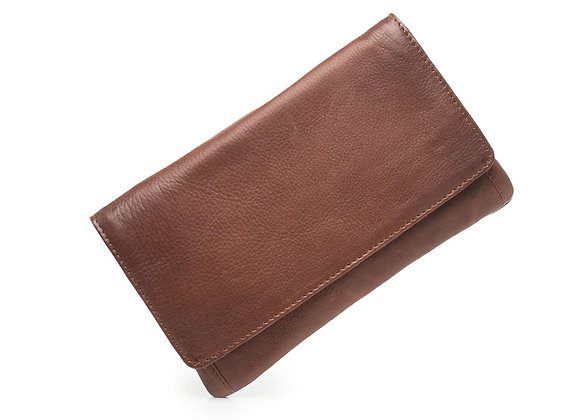 Dusky Robin Leather - Sirena Purse BROWN