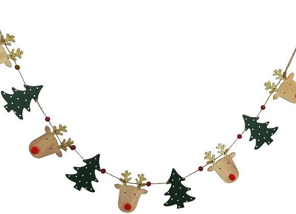 Reindeer Tree Garland Decoration