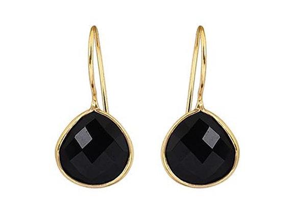 Susan Rose - Alisha Black Onyx Pear Earring