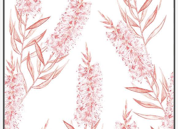 Pink Bottle Brush Framed Artwork