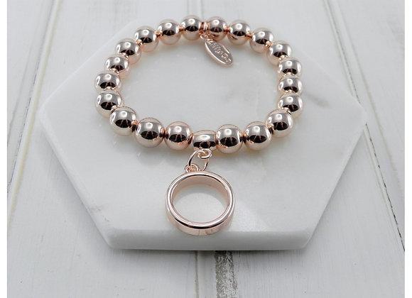 Lilly Co - Rose Gold Ring Bracelet