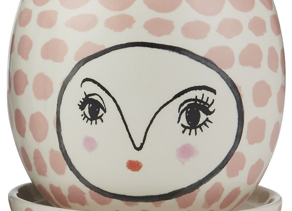 Face Planter Pink  / White with dish