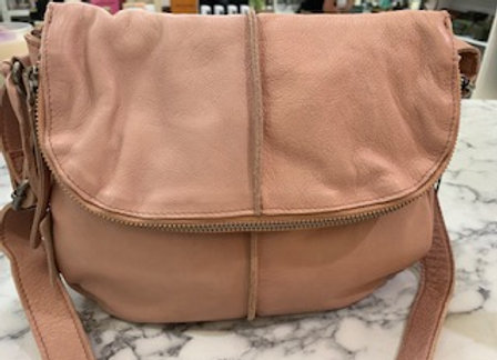 Rugged Hide Miranda Leather Cross Body Bag - Blush