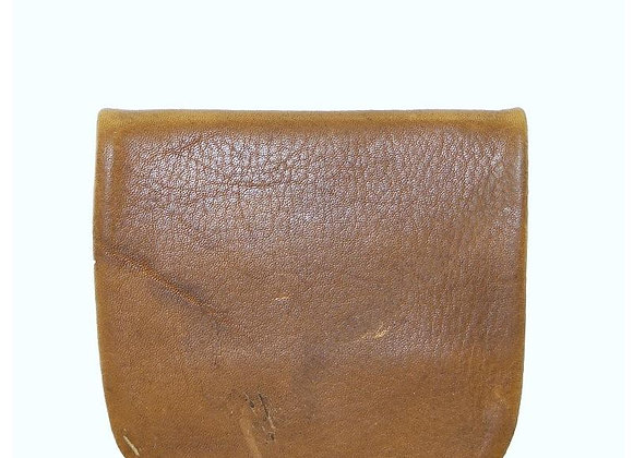 Mens Leather Coin Pouch - Tan