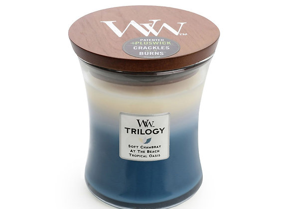 Woodwick Candle Beachfront Trilogy - Medium