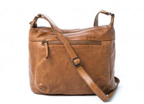 Rugged Hide Valencia Leather Cross Body Bag - Cognac