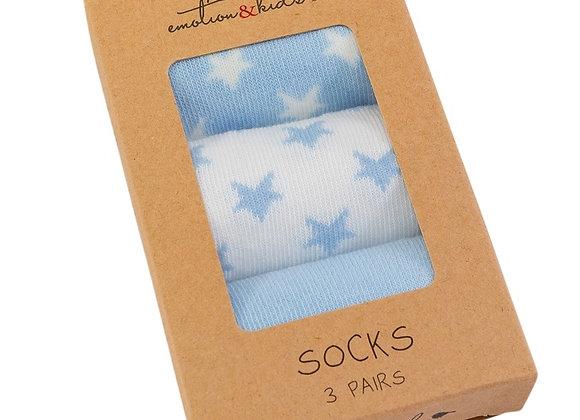Emotion & Kids - Blue Star Socks 3 Pack