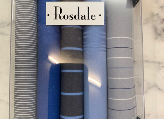 Rosdale Gift Boxed Mens 5 pack Hankies