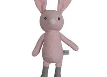 Knitted Dangly Bunny - Pink