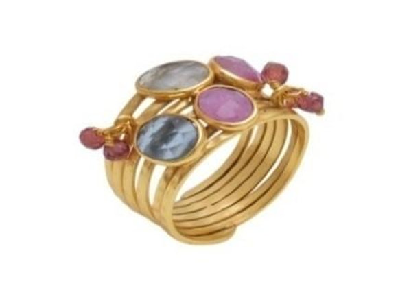 Susan Rose - Crown Jewels - Multi Tourmaline Ring