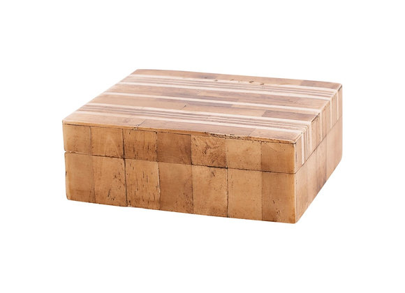 Resin Beige with cream stripe box