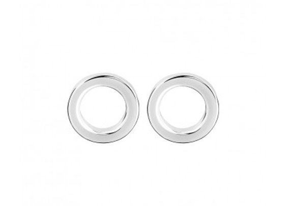 Sterling Silver Open Circle Stud Earring - 6mm