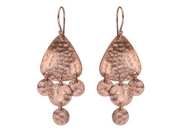 Susan Rose - Jazz Hammered Rose Gold Earring
