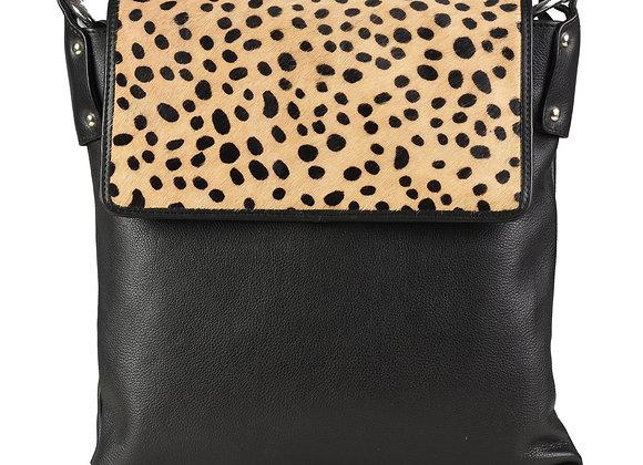 Leather Hairon Crossbody Bag