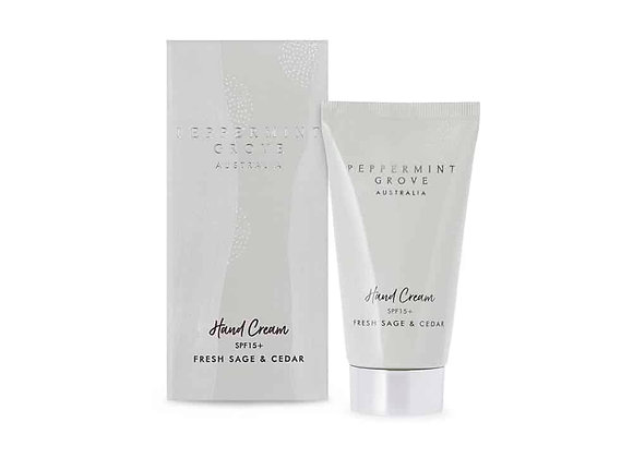Peppermint Grove - Fresh Sage & Cedar Hand Cream Tube 75ml