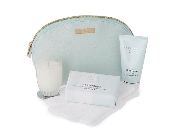 Wild Jasmine & Mint Beauty Bag Gift Set