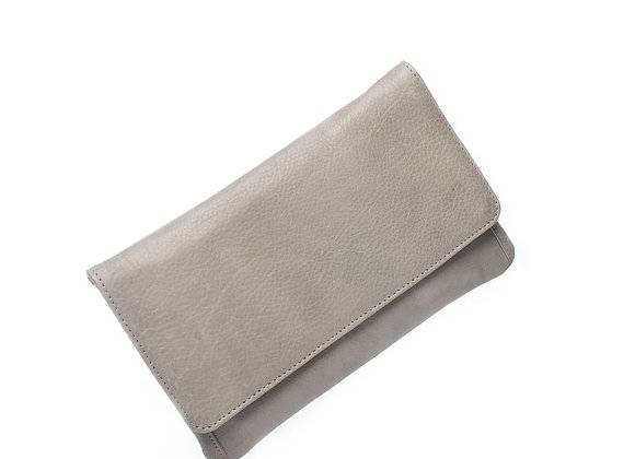 Dusky Robin Leather - Sirena Purse LIGHT GREY
