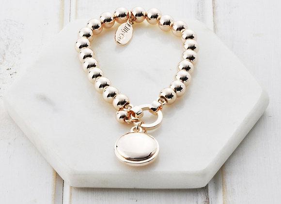 Lilly Co - Rose Gold Disc Bracelet