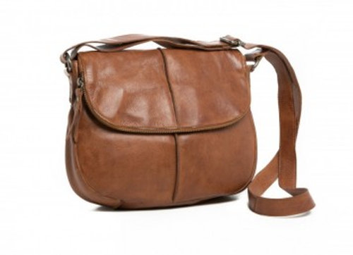 Rugged Hide Miranda Leather Cross Body Bag - Tan