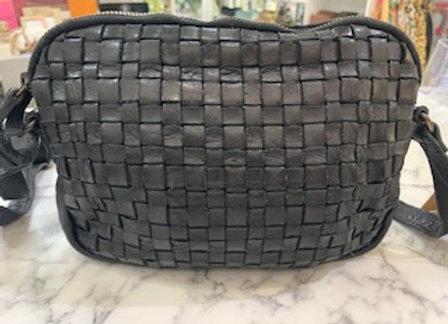 Rugged Hide Divya Leather Cross Body Bag - Black