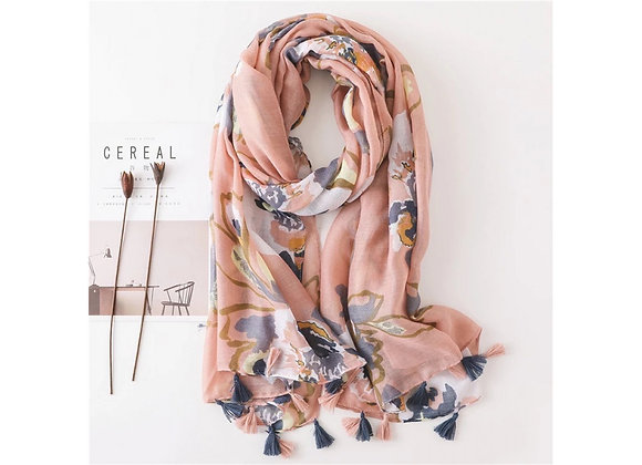 LillyCo - Pink Floral Scarf