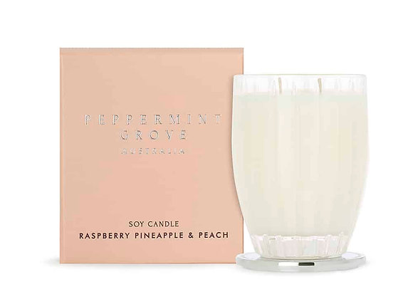 Peppermint Grove - Raspberry Pineapple & Peach Large Candle 350g