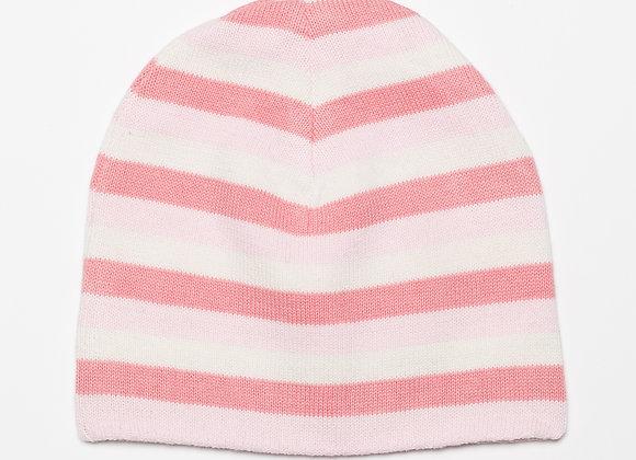Emotion & Kids - Pink Stripe Knitted Reversible Hat