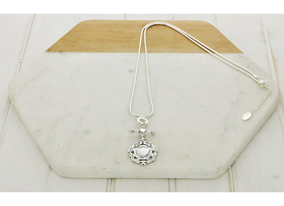 Lilly Co - Silver Shield Necklace