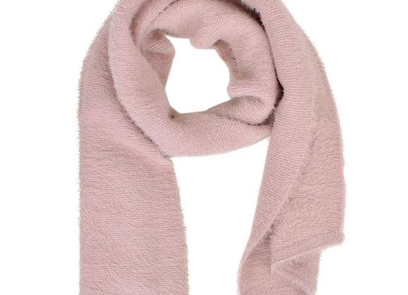 Dusty Pink Furry Knit Scarf