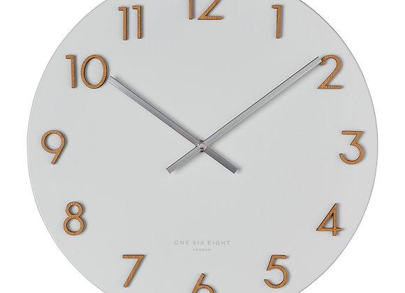 Metal Wall Clock - White 40cm