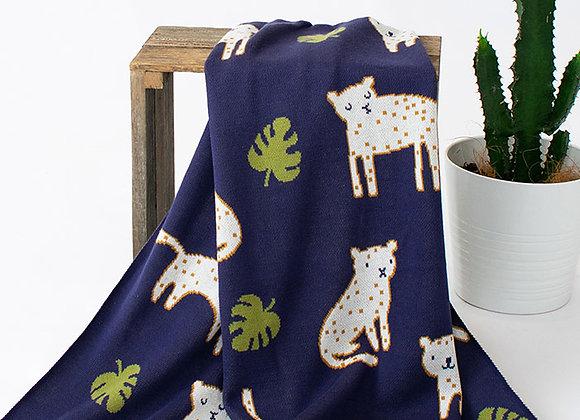 Indus Cotton Blanket -Leopold Leopard