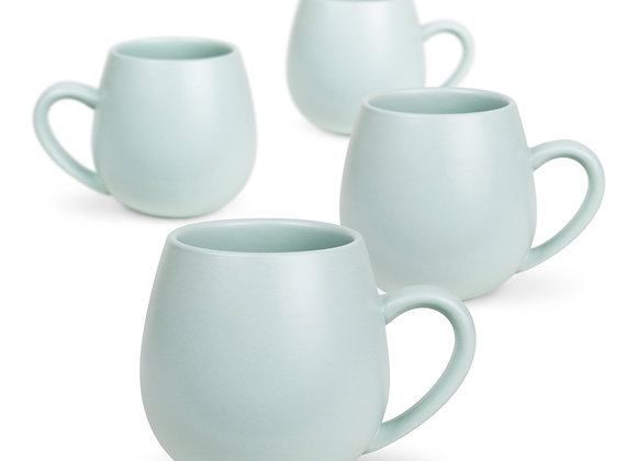 Robert Gordon Pottery -Hug Me Mug 4 pk - Matte Pale Eucalyptus