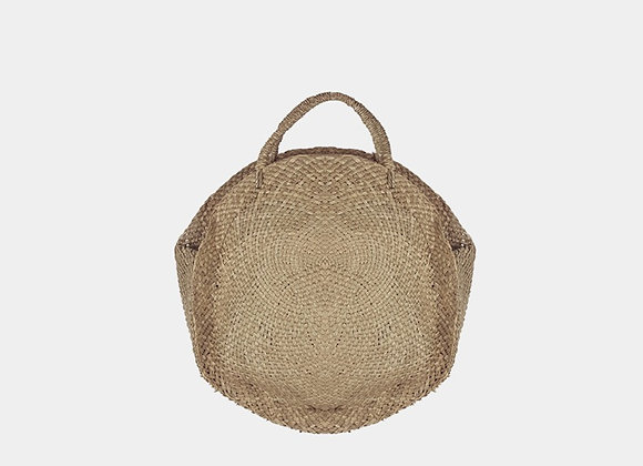 Natural Round Lined Bag