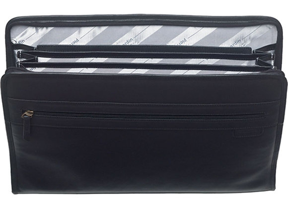Mens Leather Document Holder - Black