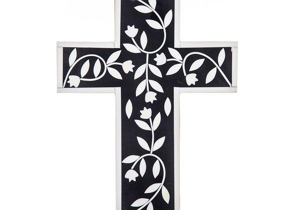 Black White Resin Cross