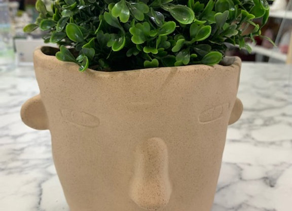 Planter Natural Face