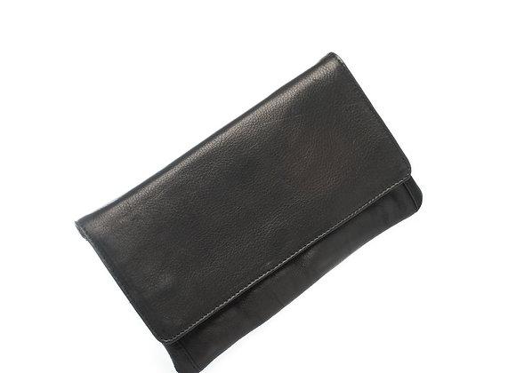 Dusky Robin Leather - Sirena Purse BLACK
