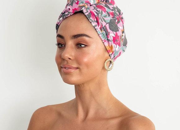 Louvelle - Riva Hair Towel Wrap - Halcyon Garden