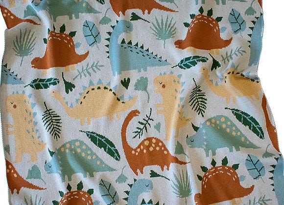 Indus Cotton Blanket -Dinosaur