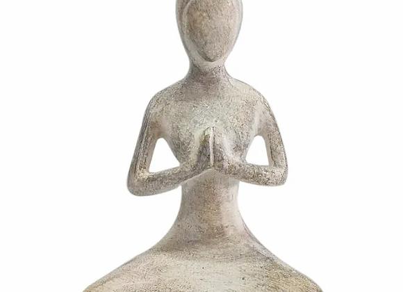 Yogi Lady Resin Sculpture - Small